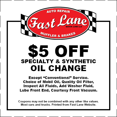 Fast Lane Oil Change Coupon